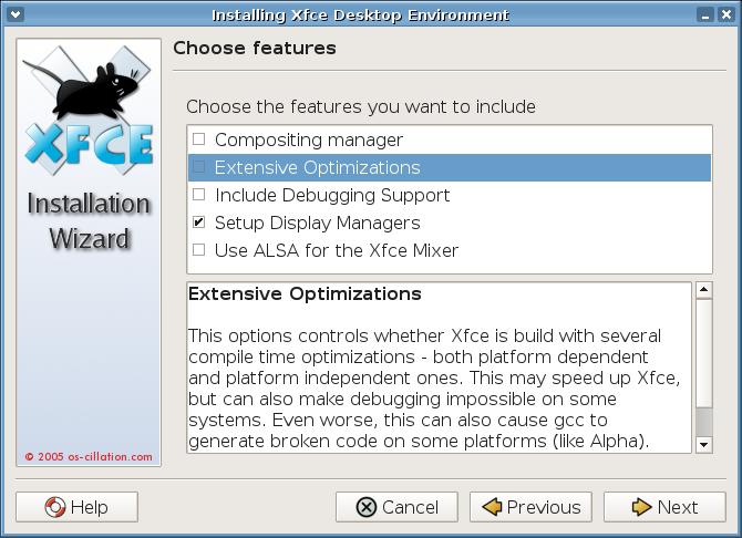 Installing Xfce